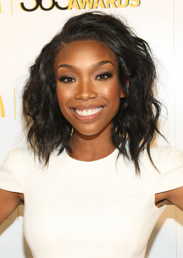 Brandy Norwood's gorgeous lob was tousled to perfection on the red carpet.