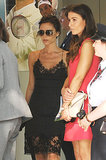 Victoria Beckham Slips Into Wimbledon in a Lace Dress