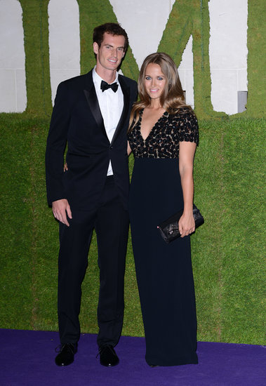 As the couple of the evening, Andy and Kim both wore pieces from Burberry to the Wimbledon Champions Ball. Kim's floor-length black Prorsum gown complemented her guy's classic tux.