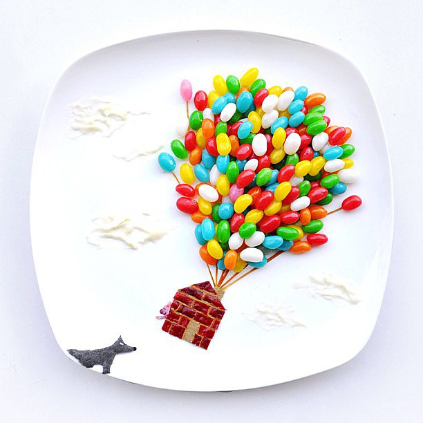 Inspired by the Three Little Pigs, jelly beans tell the fun story of how the third pig really escaped.  Source: Instagram user redhongyi