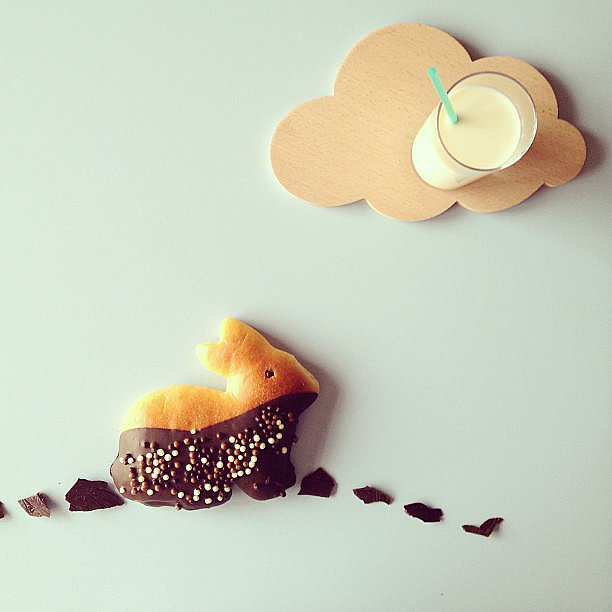 Some chocolate dip goes a long way in creating an adventurous bunny.  Source: Instagram user miss_etc