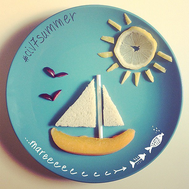 Sail away with the help of bread, mango slices, and lemon!  Source: Instagram user civediamoallesette