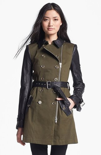 Rachel Zoe Belted Double Breasted Trench Coat