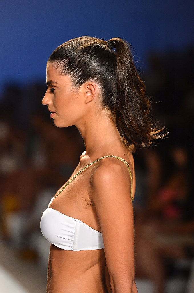 When in doubt, stick to a classic high ponytail.