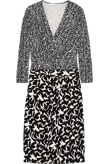 Print-mixing is easy if you stick with one color palette. Plan on wearing this Diane von Furstenberg dress ($188, originally $375) to the office on regular rotation.