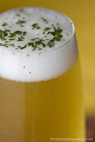 Bottoms Up   Lemon Verbena Honey Spritzer