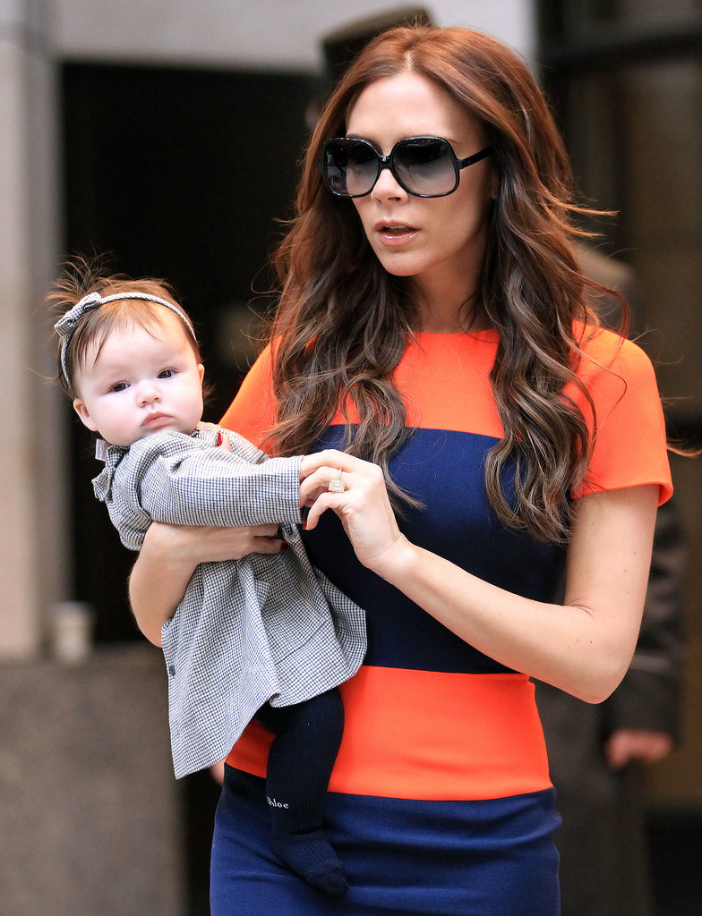 Harper and Victoria out and about in NYC in Nov. 2011.