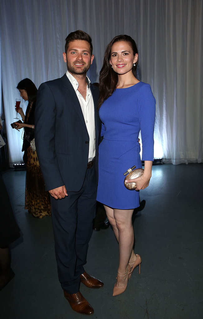 At the Novak Djokovic Foundation gala, Hayley Atwell couldn't be missed in a bright cobalt sheath.