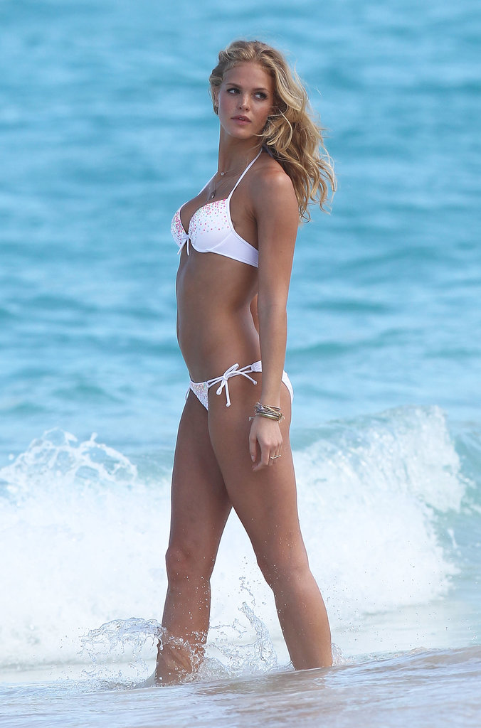 Erin Heatherton showed off her bikini body in St. Barts in February 2013.