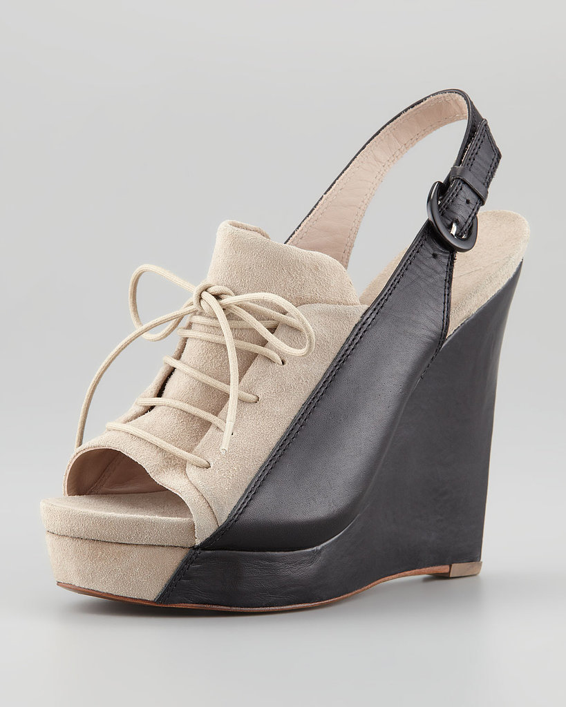 The lace-up look of these wedges ($375) makes them feel appropriate for adult back-to-school buying.