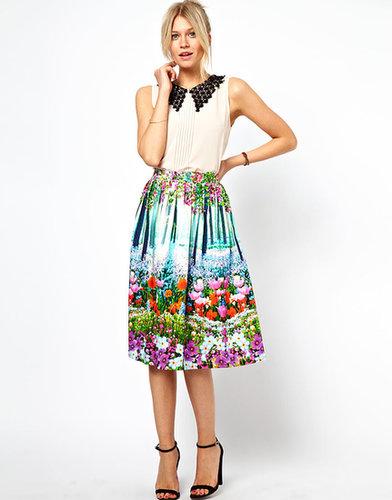 ASOS Midi Skirt In New Floral Print