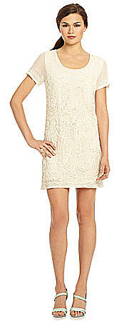 French Connection Nanette Beaded Shift Dress