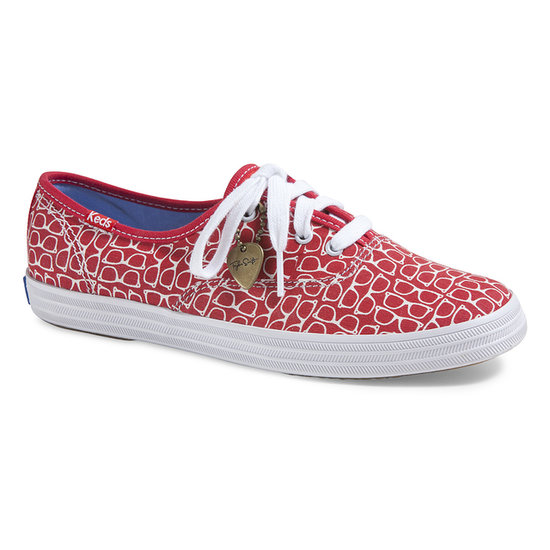 Many of the kicks featured quirky prints in the color red, naturally. (It's Taylor's favorite.)  Source: Keds