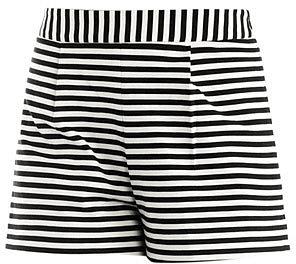 Emma Cook Stripe high-waisted shorts