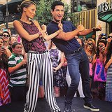 Nicole Richie and Mario Lopez did the Cabbage Patch during a segment on Extra. Source: Instagram user nicolerichie