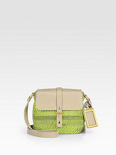 Marc by Marc Jacobs Werdie Woven Mixed-Media Shoulder Bag