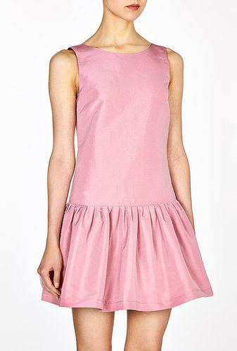 Red Valentino Pink Full Skirt Dropped Waist Dress