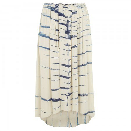 Raquel Allegra Printed silk skirt - Cream And Other