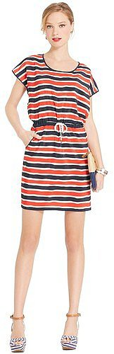 Tommy Hilfiger Women's Blouson Stripe Dress