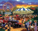 Carnival Train Jigsaw Puzzle