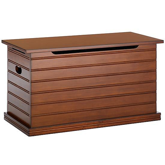 The Land of Nod's Beat Our Chest Toy Chest ($249) is made of solid spruce and has a rich chocolate finish that would fit in any room in the house.