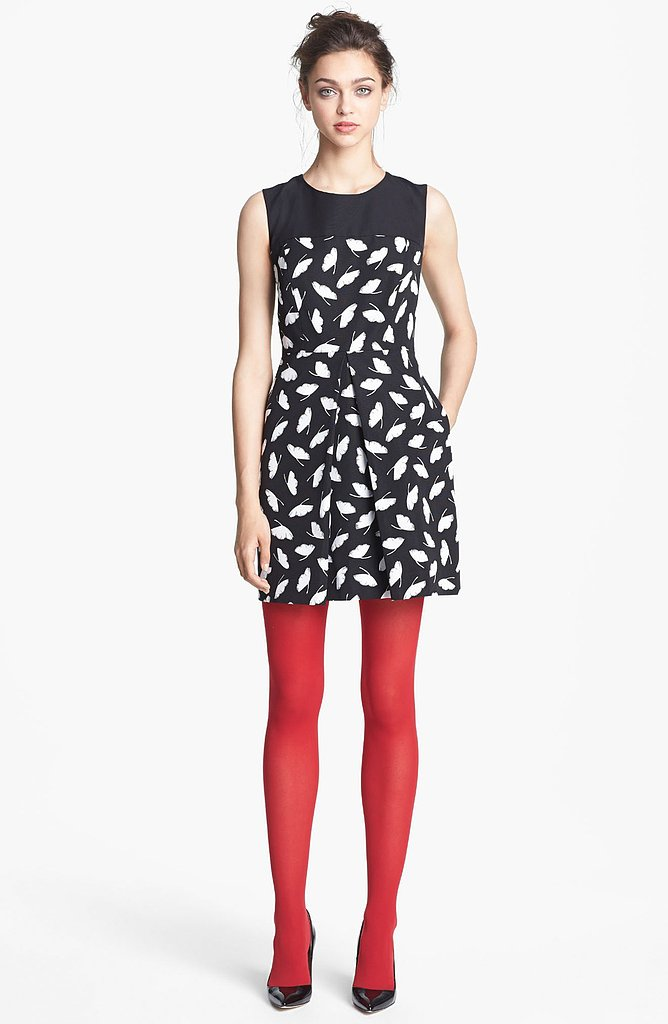 Mimic the falling leaves with the Delicate Leaf Print Dress ($475).