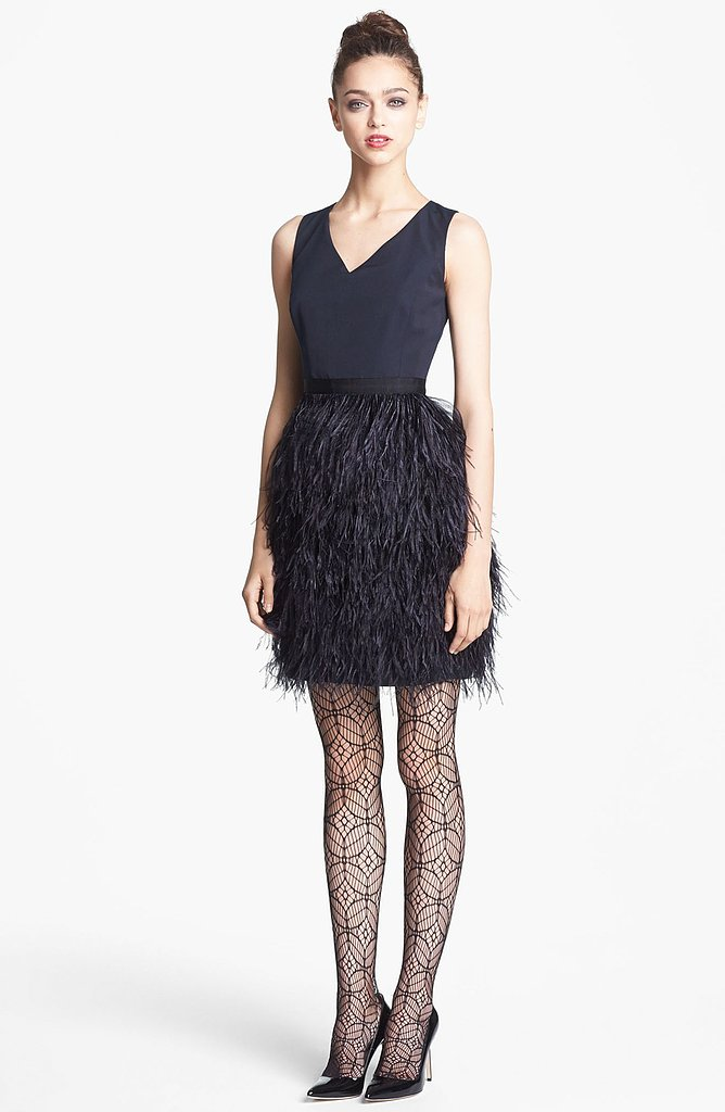 Consider the Feather Skirt Radiant Faille Dress ($995) to be our most favorite update to the little black dress yet.