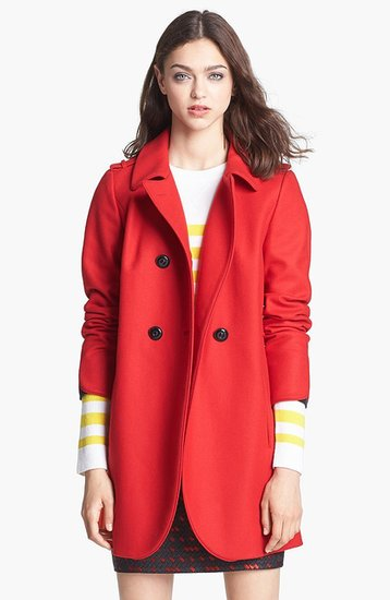 There's no better way to make a statement with your outerwear than by donning the Torre Military Jacket ($695) in its vibrant shade of red.