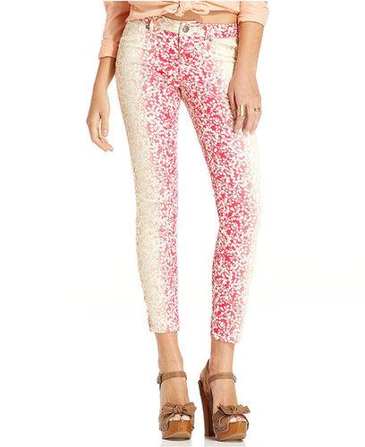 Jessica Simpson Juniors Pants, Kiss Me Skinny Printed Twill