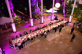 The setting for ModelCo's black tie dinner on Hayman Island.