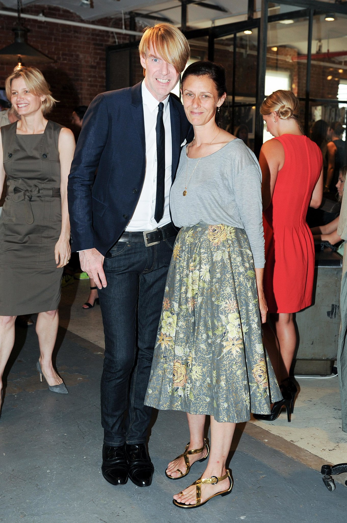 Ken Downing and Sally Singer congratulated the CFDA/Vogue Fashion Fund finalists at the New York Rag & Bone studio.