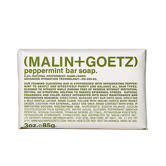 Bar soap more your style? Scrub up with Malin+Goetz Peppermint Bar Soap ($10).