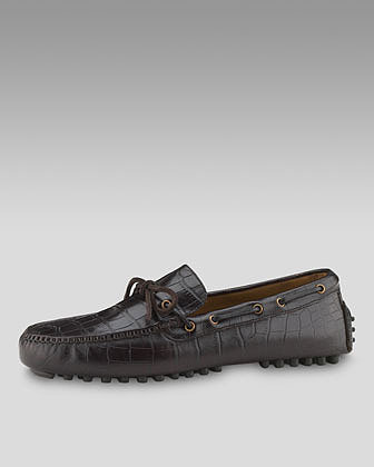 Cole Haan Air Grant Moccasin, Dark Brown Croc