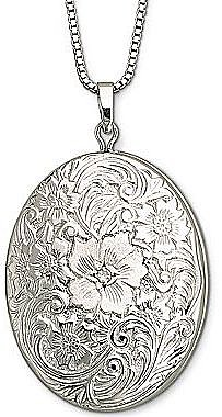 Sterling Silver Floral Frame Locket