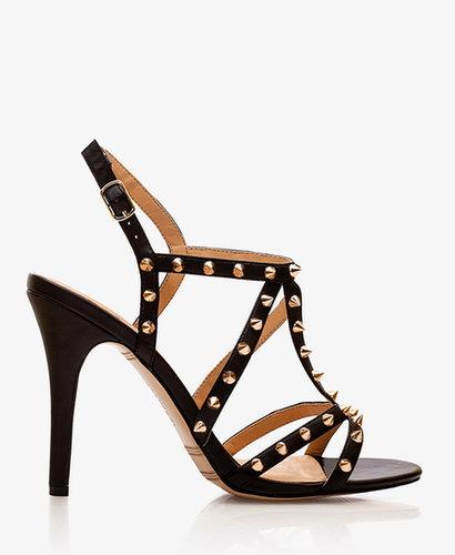 FOREVER 21 Leather-Lined Spike Gladiator Heels