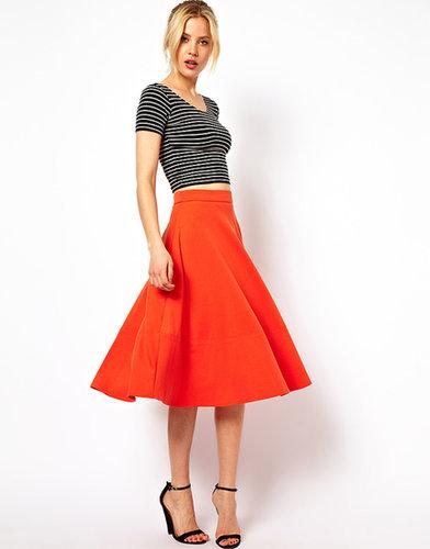 ASOS Midi Skirt In Ponte