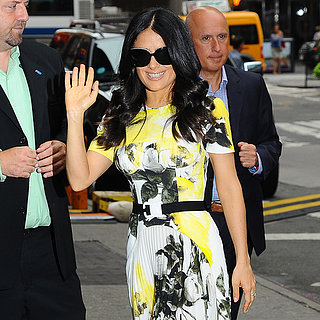 Celebrity Style: Salma Hayek In Yellow Dress, '70s Jumpsuit