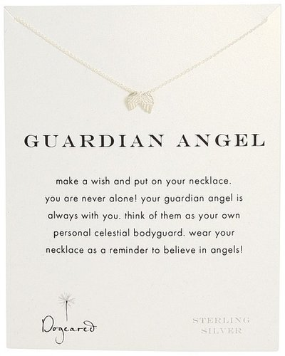 Dogeared Jewels - Guardian Angel Reminder Necklace (Sterling Silver) - Jewelry
