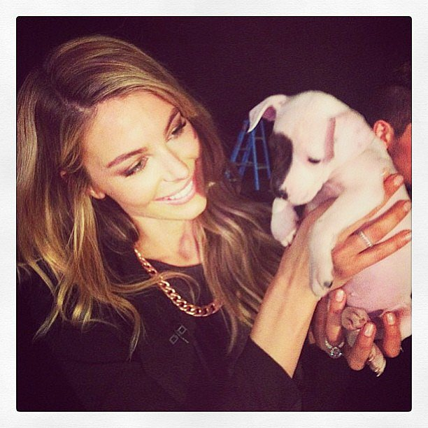 Jen Hawkins was on the set of Mornings with a too-cute co-star during the week. Source: Instagram user jenhawkins_