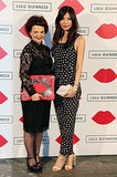 Lulu Guinness and Gemma Chan accessorized with the handbag designer's quirky clutches at the Paint Project bash.