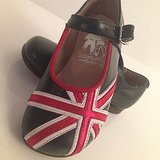 Victoria Beckham showed off a pair of Harper's patriotic Start-Rite Mary Janes. Source: Instagram user victoriabeckham