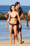In January 2008, Penélope Cruz and Javier Bardem hit the beach in Brazil.