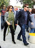 Penélope held hands with Javier during a December 2010 stop in LA.