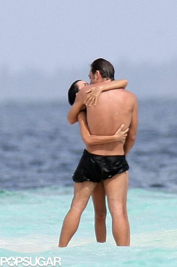 In October 2007, Penélope Cruz and Javier Bardem shared an ocean embrace in the Maldives.