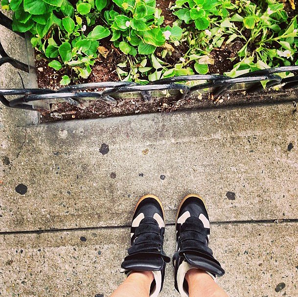 Our way of getting through a rainy Wednesday: killer kicks.