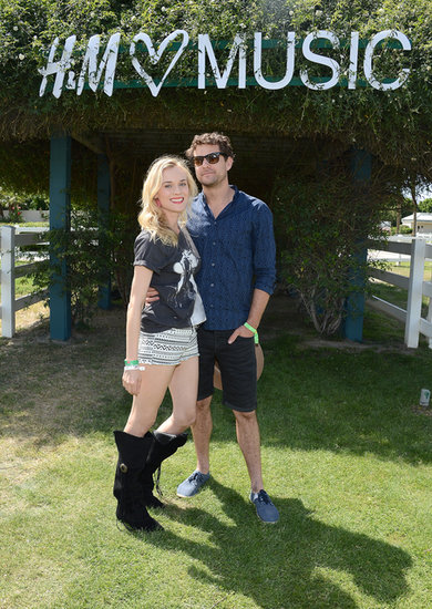 In April 2013, Diane Kruger and Joshua Jackson attended Coachella together.