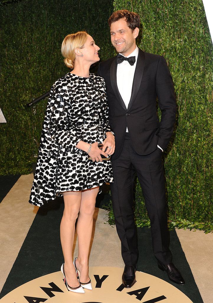 Diane Kruger and Joshua Jackson shared a laugh when they arrived at the February 2013 Vanity Fair Oscar party in LA.