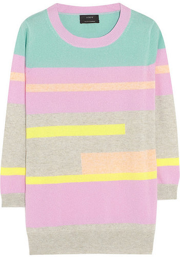 J.Crew Abstract striped cashmere sweater
