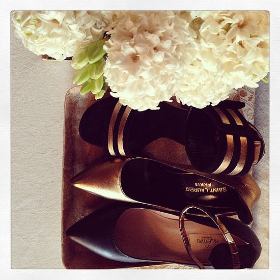 Miranda Kerr's two Hs: heels and hydrangeas. Source: Instagram user mirandakerr