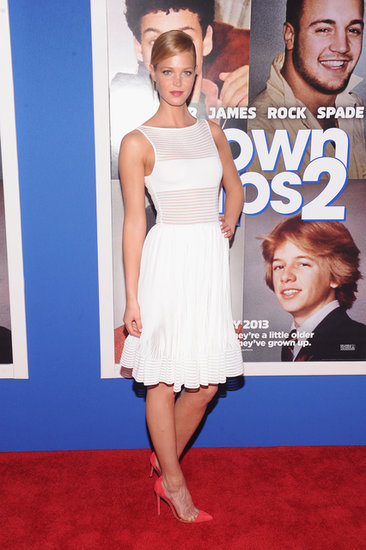 Erin Heatherton perfected her supermodel pose in a peekaboo-style LWD at the Grown Ups 2 premiere.